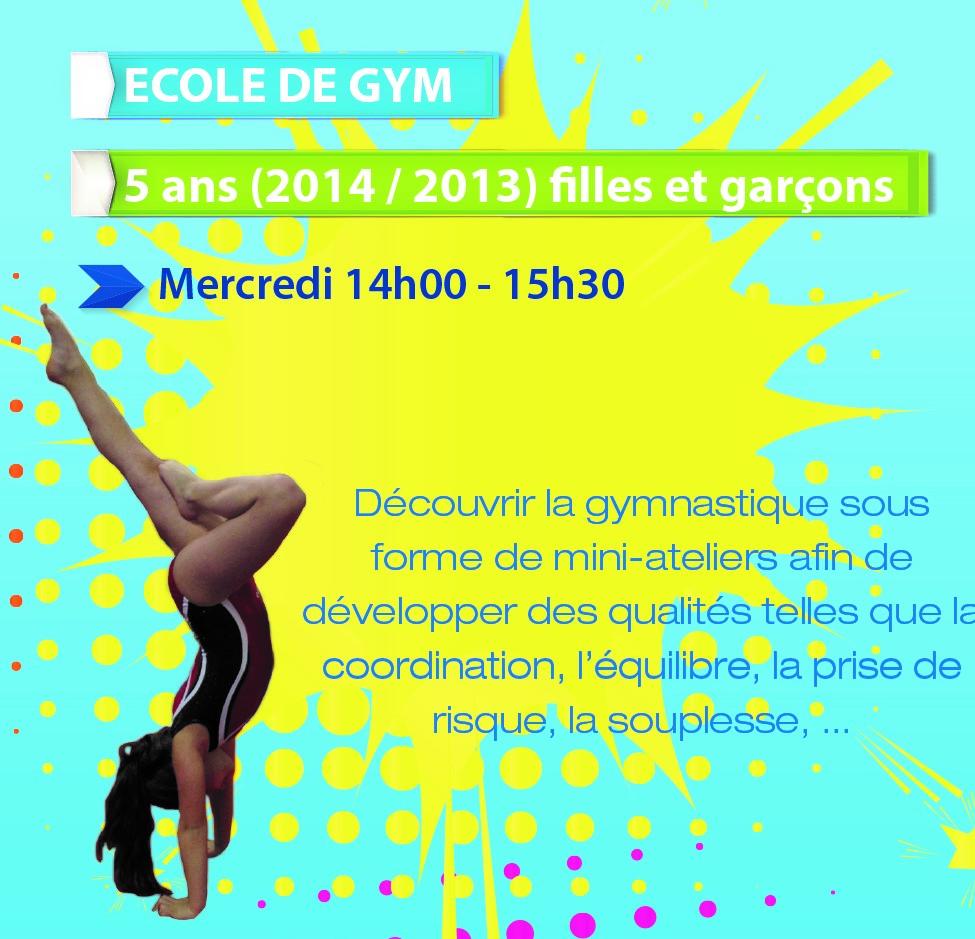 La Gym pour les enfants de 5/6 ans (2014/2013)