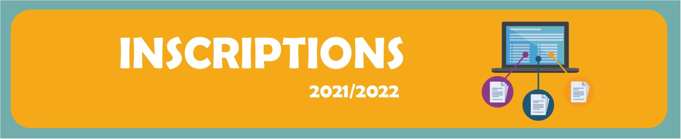 Information inscription saison sportive 2021/2022