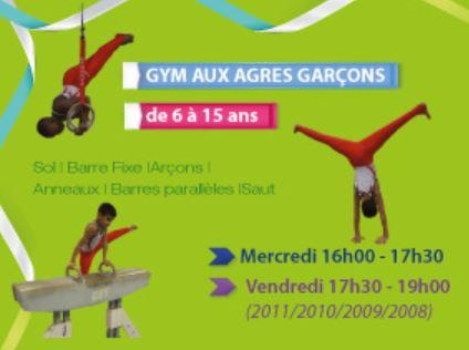 La Gym aux agrés pour les garçons de 6 ans et plus...